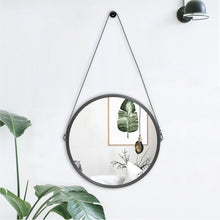 Load image into Gallery viewer, Round Mirror with Leather Strap