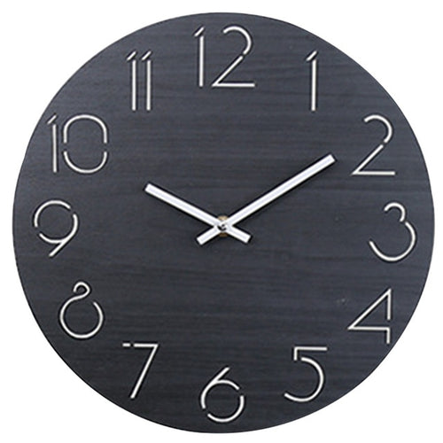 Midnight Black - Earth Tone Clock Collection