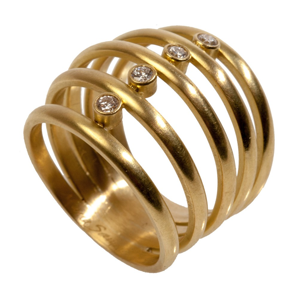 Maria Samora - 18k Gold 5 Band Ring