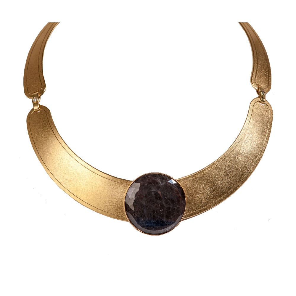 Maria Samora - African Sapphire and 18k Gold Collar