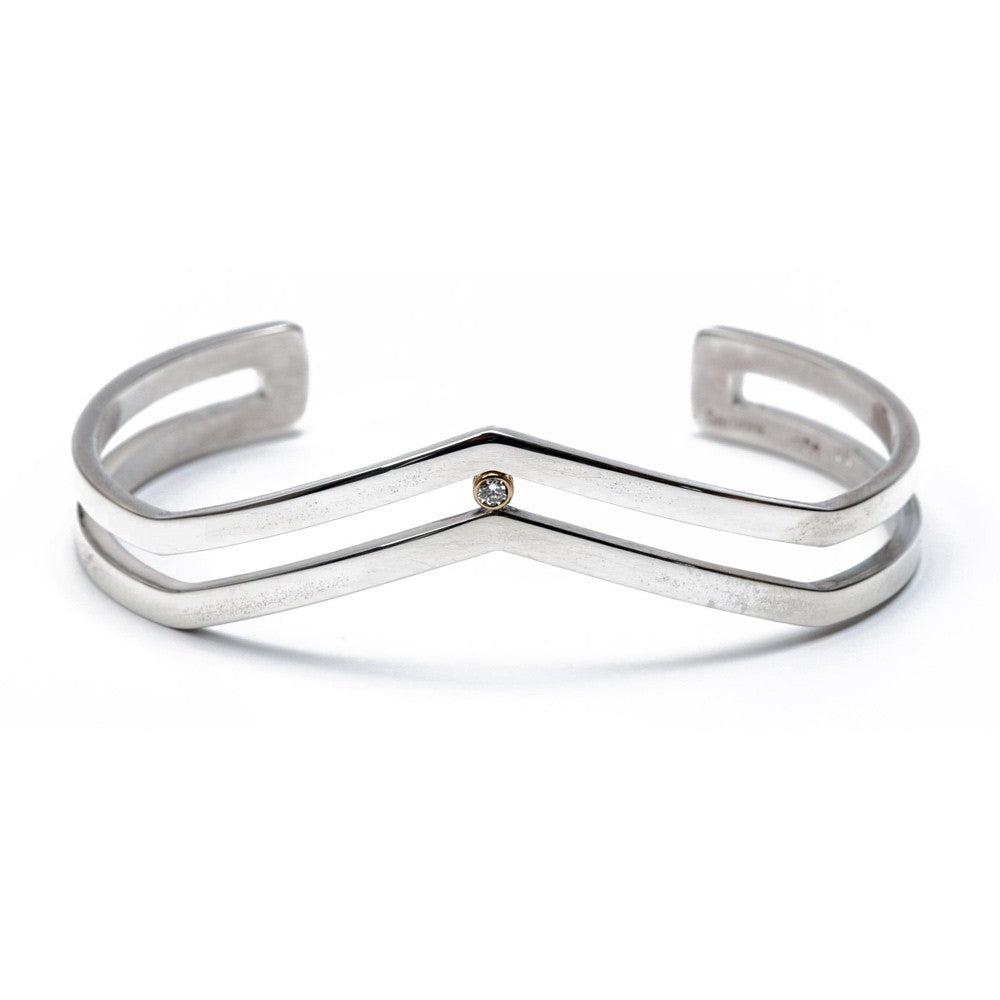 Maria Samora - Diamond Strata Narrow Bracelet