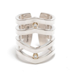 Maria Samora - Diamond Strata Ring