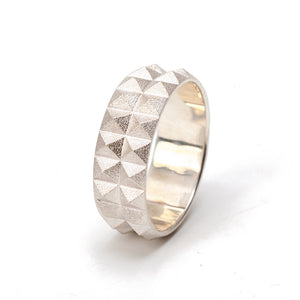 Maria Samora-Double Pyramid Ring Band-PY-R06