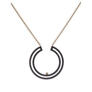 Strata Full Moon Necklace large