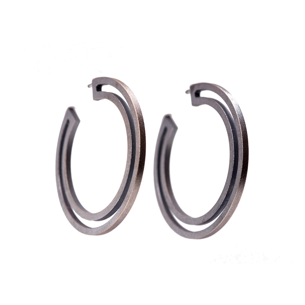 Strata Hoop Earrings Large