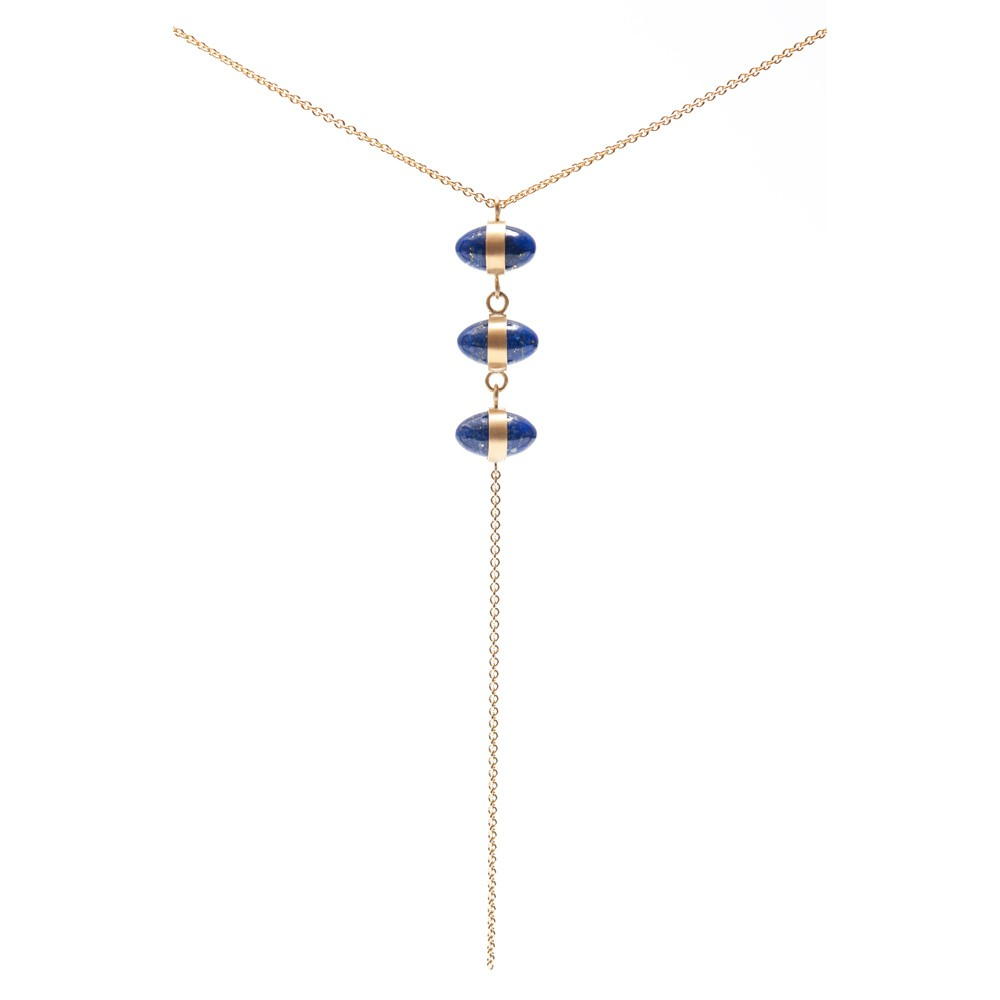 Maria Samora - Lapis Triple Bullet Necklace