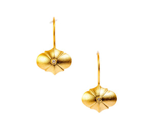 Mirror Earrings, 18K Gold