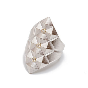 Maria Samora - Pyramid Ring with Diamonds