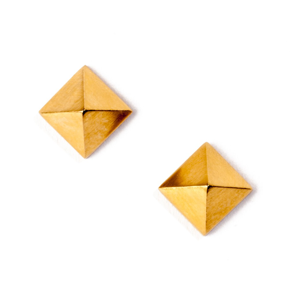 Maria Samora - Pyramid Stud Earrings