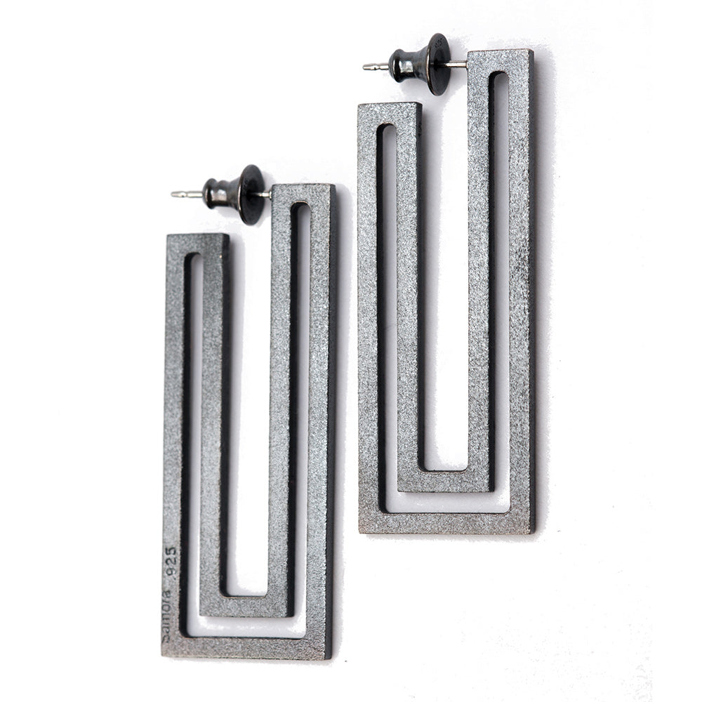 Maria Samora-Strata Rectangle Earrings