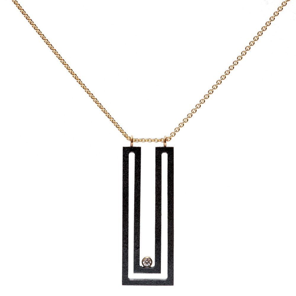 Maria Samora - Strata Rectangle Pendant