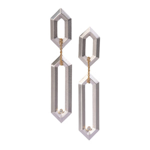 Hexagon Link Earrings