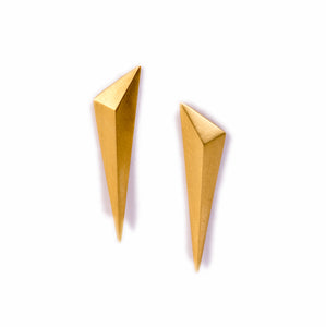 Tetra 18k Gold Long Studs