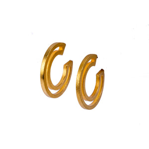 Strata Hoops Small 18K Gold