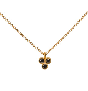 Fleur-di-Lis 3 Black Diamond Necklace