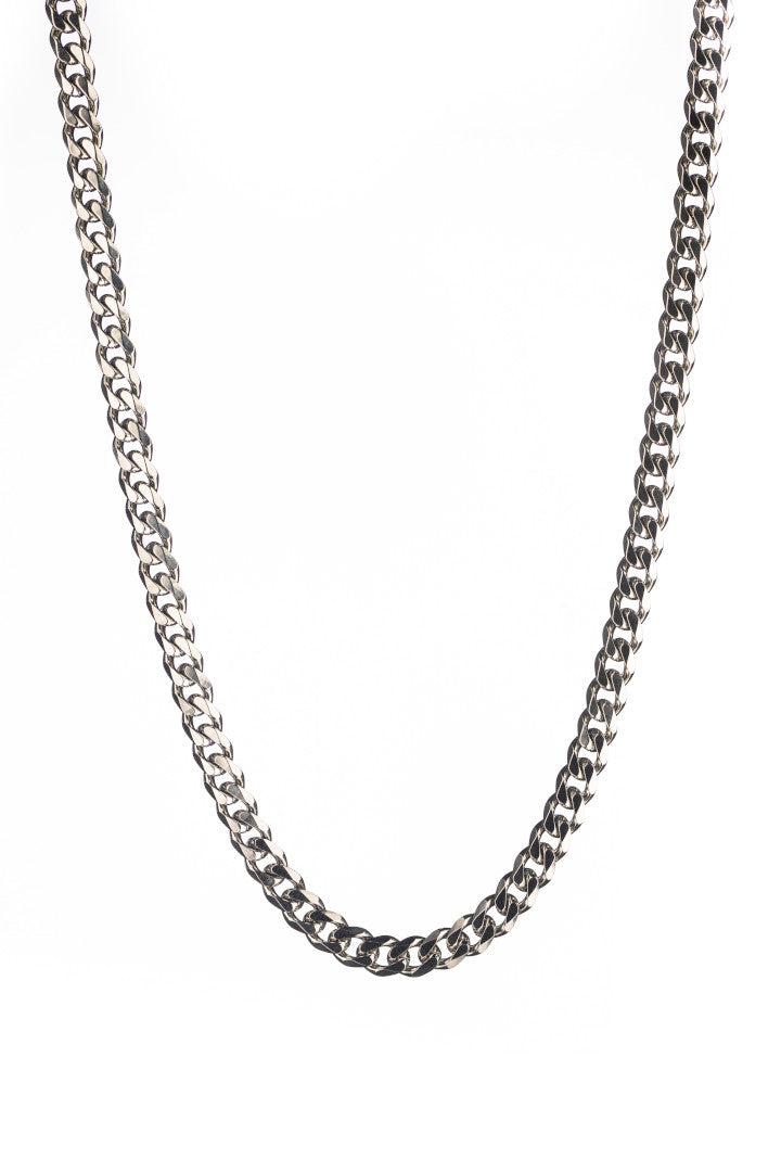Gharb Co. Curb Necklace Chain – Silver-Krave Urban Store