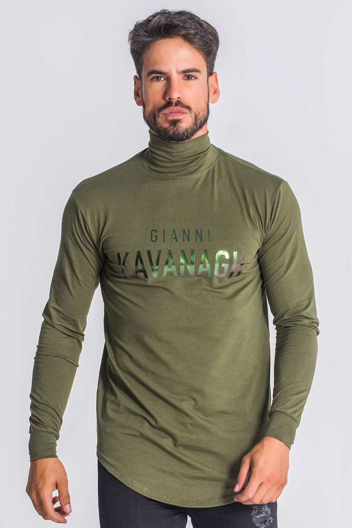 Gianni Kavanagh Mystic Reflection Turtleneck Shirt - Army Green