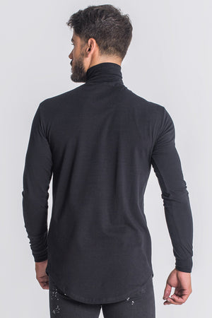 Gianni Kavanagh Mystic Reflection Turtleneck Shirt - Black