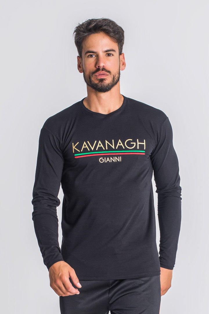 Gianni Kavanagh Valid Nation Long Sleeve Tee - Black