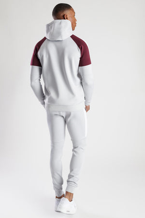 Gym King Core Plus Contrast Poly Joggers Microchip - Burgundy & Grey