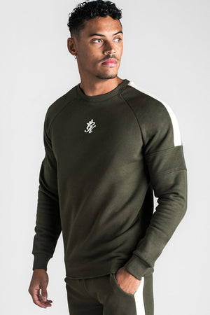 Gym King Core Plus Sweatshirt - Forest Green & Stone-Krave Urban Store