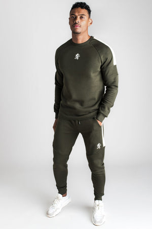 Gym King Core Plus Tracksuit Bottoms - Forest Green & Stone-Krave Urban Store