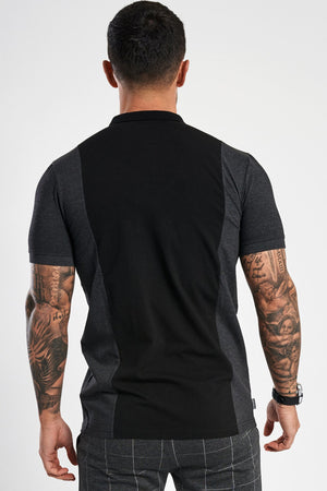 Gym King Nickson Polo - Charcoal & Black
