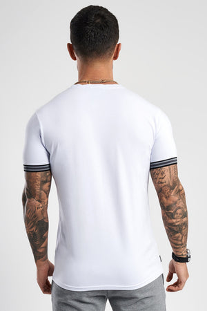 Gym King Rubin Tipped T-Shirt - White