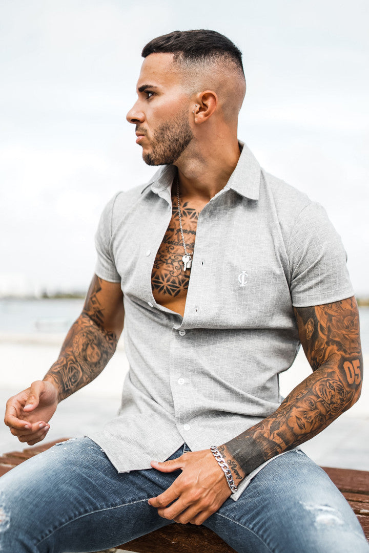 ICwear Urban-Shirt Stripes - Grey & White