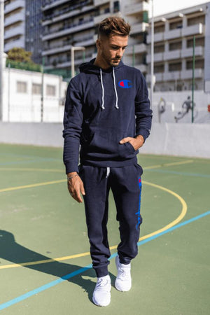 Champion Rochester Hooded SweatShirt – Navy - Krave Urban Store