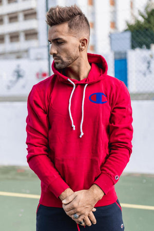 Champion Rochester Hooded SweatShirt – Red - Krave Urban Store