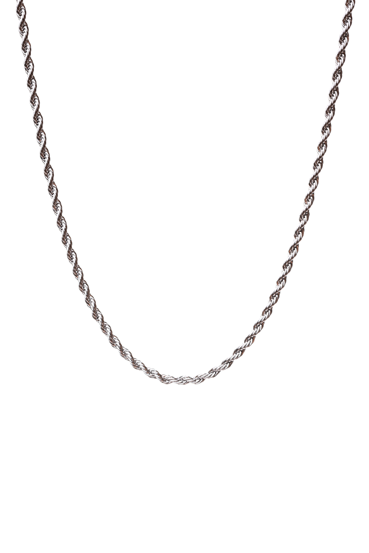 Gharb Co. Rope Necklace – Silver - Krave Urban Store
