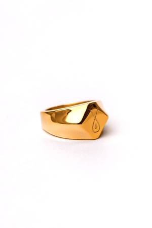 Gharb Co. Signature Ring – Gold - Krave Urban Store