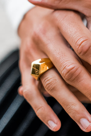 Gharb Co. Signature Ring – Gold