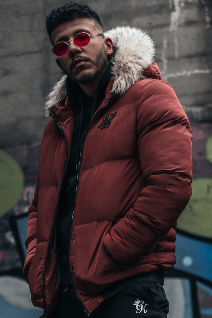 SikSilk Distance Jacket – Burgundy - Last Size S