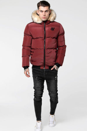 SikSilk Distance Jacket – Burgundy-Krave Urban Store