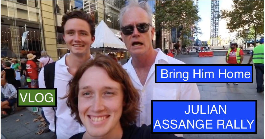 GET HIM OUT OF THE EMBASSY! || Free JULIAN ASSANGE Rally || VLOG