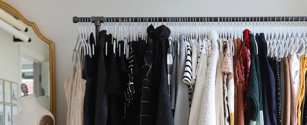DIY Rolling Clothing Rack with Shelves
