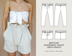 Brooke Paperbag Waist 7/8th Pants and Shorts