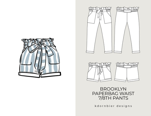 Brooklyn Paperbag Waist 7/8th Pants and Shorts