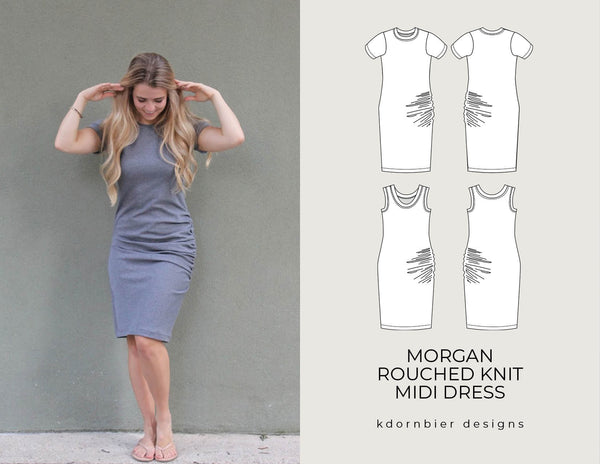Morgan Rouched Knit Dress