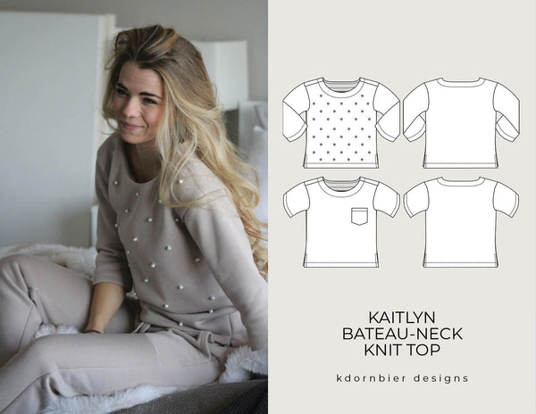 Kaitlyn Bateau-Neck Knit Top