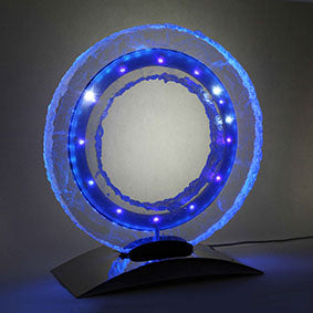 Horological creation Blue Ring Clock