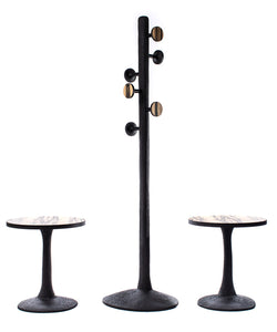 Coat rack and side tables