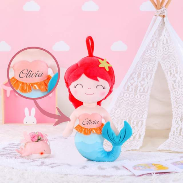 Personalized Mermaid Leyadoll with Gift Bag - 2 Skin Tones - Leya Doll