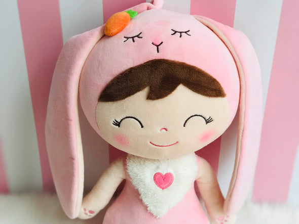 Personalized Bunny Leyadoll with Gift Bag - 2 Skin Tones - Leya Doll