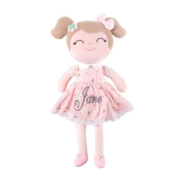 Leyadoll Personalized Name Doll (Strawberry) with Gift Bag - Leya Doll