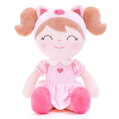 NEW - Personalized Piggy Spring Girl with Gift Bag - Easter Special - Leya Doll