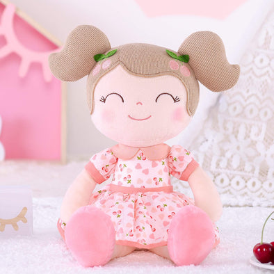 NEW - Personalized Pink Cherry Leyadoll with Gift Bag - Christmas Pink Holiday Special - Leya Doll