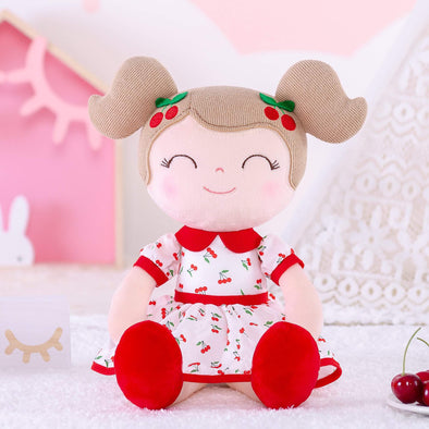 NEW - Personalized Red Cherry Leyadoll with Gift Bag - Christmas Red Holiday Special - Leya Doll